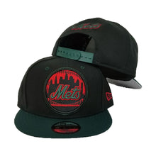 Load image into Gallery viewer, New Era New York Mets Black - Green - Red 9Fifty Snapback