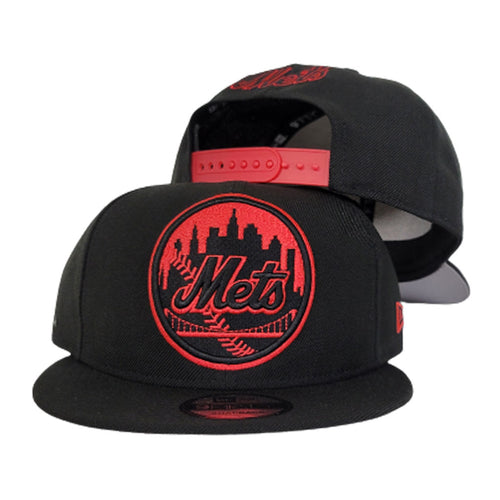 New Era New York Mets Black on Infrared 9Fifty Snapback Hat