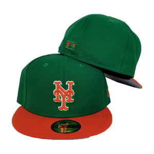 New Era New York Mets Green / Orange 59FIFTY Fitted Hat