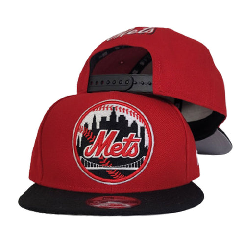 New Era New York Mets Red Black 9Fifty Snapback