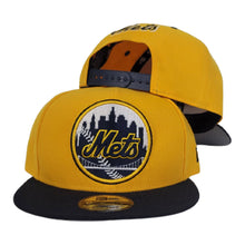 Load image into Gallery viewer, New Era New York Mets Yellow Navy 9Fifty Snapback Hat