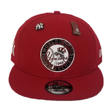 Load image into Gallery viewer, New Era New York Yankees 1949 World Series Metal Badge Dual pin Red Snapback