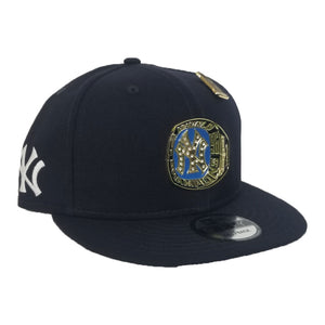 New Era New York Yankees 1996 World Series Champions Ring Metal Badge Navy Blue Snapback