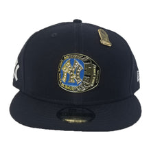 Load image into Gallery viewer, New Era New York Yankees 1996 World Series Champions Ring Metal Badge Navy Blue Snapback