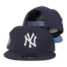 Load image into Gallery viewer, New Era New York Yankees 1999 World Series Navy Icy Blue Bottom 9Fifty Snapback Hat