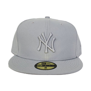 New Era New York Yankees Light Grey Tonal 59FIFTY Fitted Hat