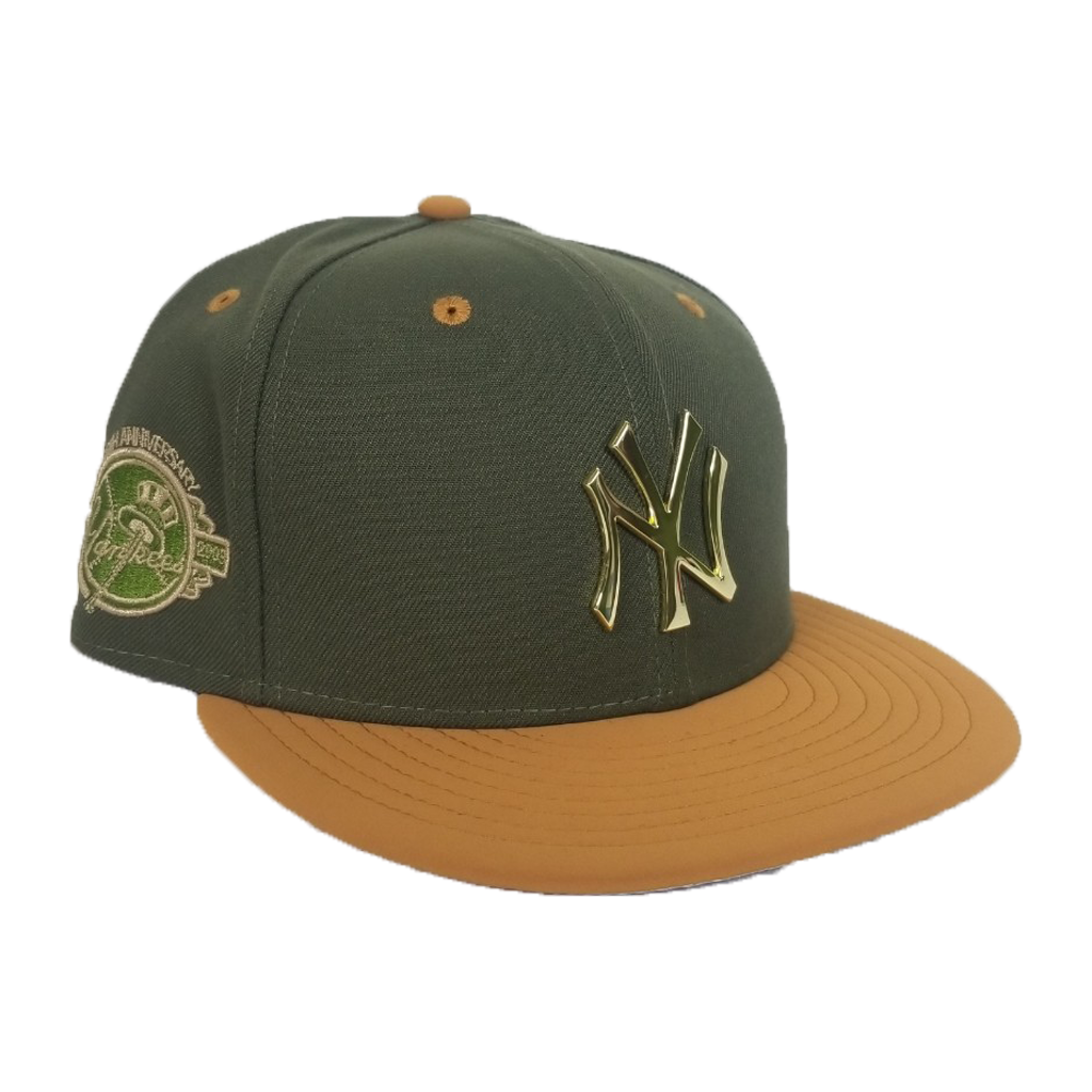 New Era Oilve - Wheat New York Yankees Gold Metal Snapback hat
