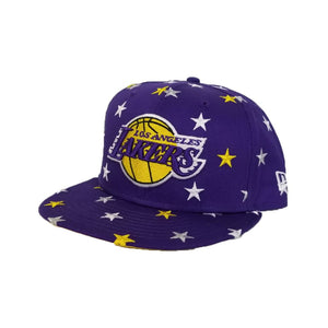 New Era Purple Star Scatter Los Angeles Lakers 9Fifty Snapback hat