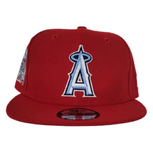 Load image into Gallery viewer, New Era Red Los Angeles Angels 50th Anniversary Icy Blue Bottom 9Fifty Snapback Hat