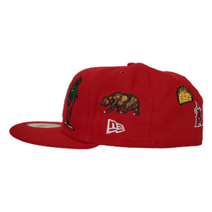 New Era Red Los Angeles Angels Souvenir 59FIFTY Fitted