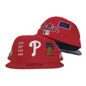 New Era Red Philadelphia Phillies Souvenir 59FIFTY Fitted