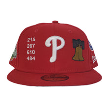 Load image into Gallery viewer, New Era Red Philadelphia Phillies Souvenir 59FIFTY Fitted