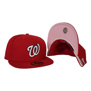 New Era Red Washington Nationals Pink Undervisor 59FIFTY Fitted