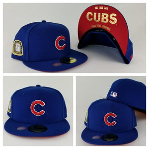 New Era Royal Blue Chicago Cubs 3 times Champions Ring 59Fifty Fitted Hat