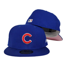 Load image into Gallery viewer, New Era Royal Blue Chicago Cubs Pink Undervisor 59FIFTY Fitted