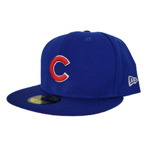 New Era Royal Blue Chicago Cubs Pink Undervisor 59FIFTY Fitted