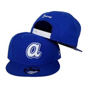 New Era Royal Blue Cooperstown Atlanta Braves  9Fifty Snapback