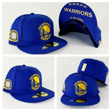 Load image into Gallery viewer, New Era Royal Blue Golden State Warriors 5 times Champions Ring 59Fifty Fitted Hat