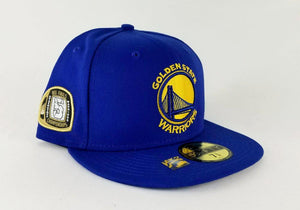 New Era Royal Blue Golden State Warriors 5 times Champions Ring 59Fifty Fitted Hat