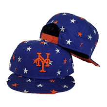 Load image into Gallery viewer, New Era Royal Blue Star Scatter New York Mets 9Fifty Snapback hat