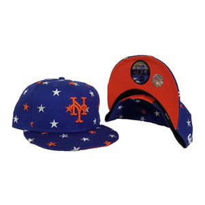 New Era Royal Blue Star Scatter New York Mets 9Fifty Snapback hat