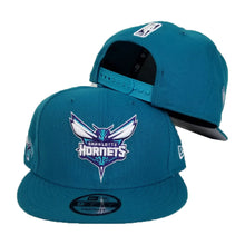 Load image into Gallery viewer, New Era Teal Charlotte Hornets Snapback hat