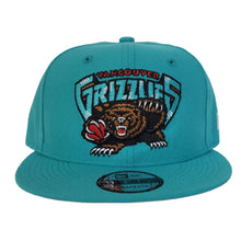 Load image into Gallery viewer, New Era Teal Vancouver Grizzlies 9FIFTY Snapback