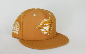 New Era Toronto Blue Jays Nubuck Wheat 59Fifty fitted hat