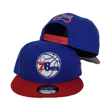 Load image into Gallery viewer, New Era philadelphia 76ers 2 Tone Royal Blue / Red Snapback Hat