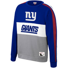 Load image into Gallery viewer, New York Giants Mitchell & Ness Royal Scorer Fleece Crew Sweatshirt