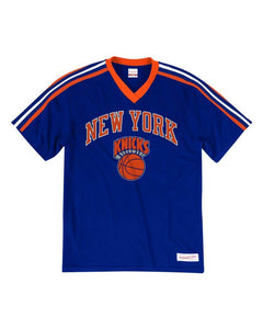 New York Knicks Mitchell & Ness Overtime Win V-Neck T-Shirt – Royal