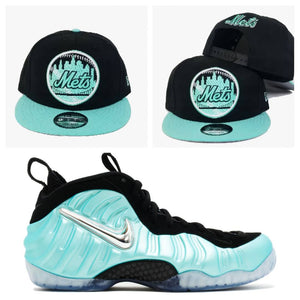 "Matching New Era New York Mets Snapback For Air Foamposite One ""Island Green"""