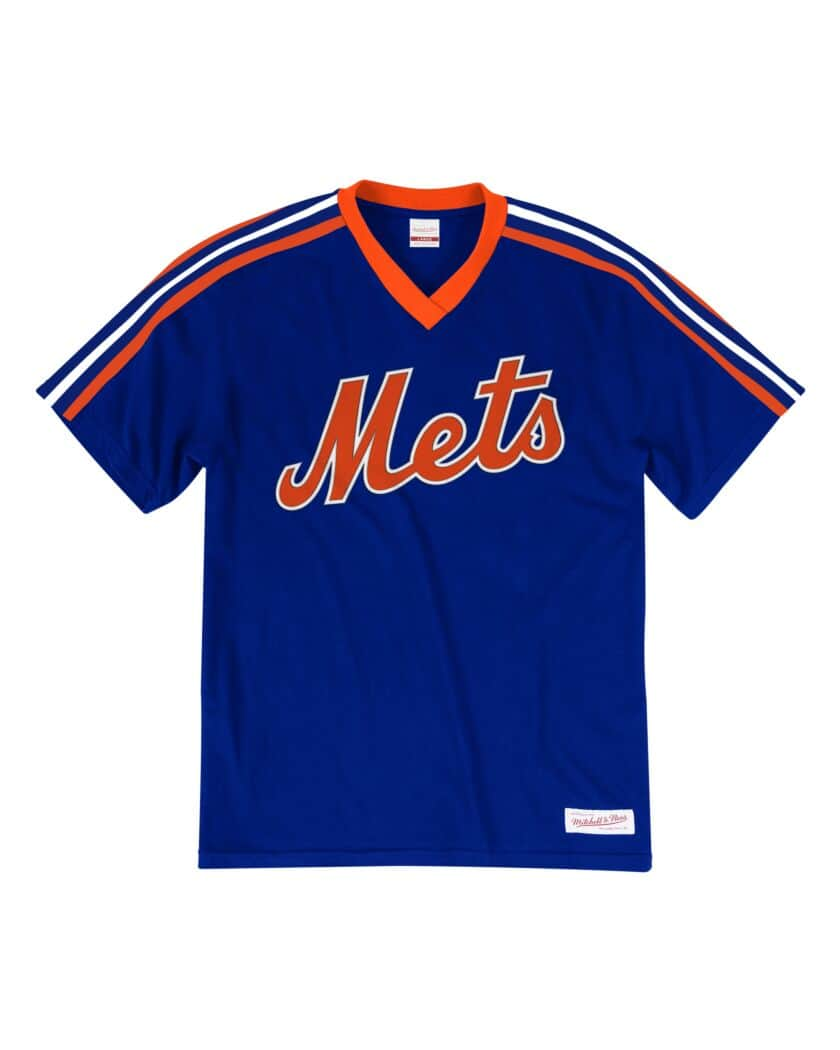 New York Mets Mitchell & Ness Overtime Win V-Neck T-Shirt – Royal