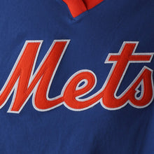 Load image into Gallery viewer, New York Mets Mitchell & Ness Overtime Win V-Neck T-Shirt – Royal