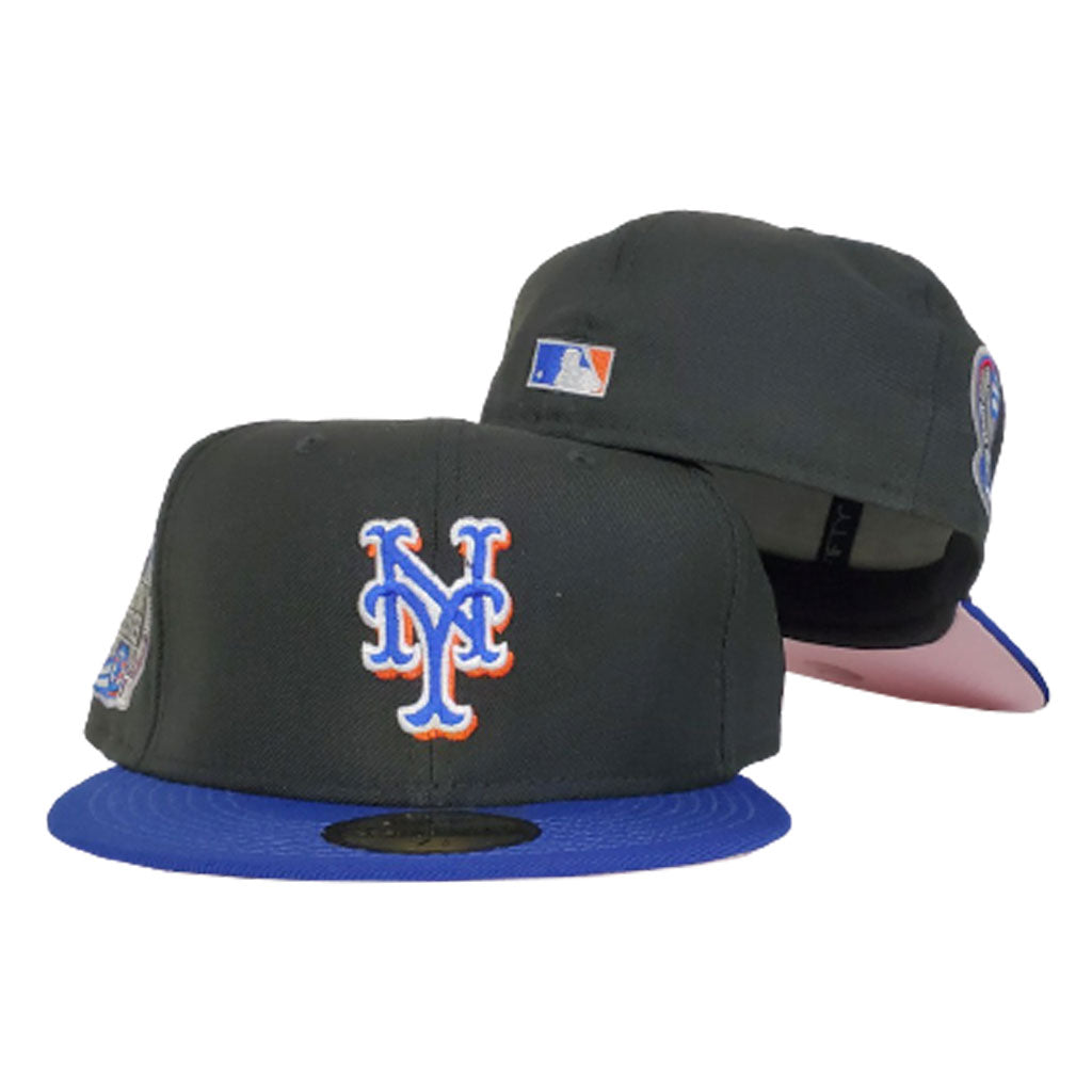 New York Mets Pink Bottom Subway Series side Patch New Era 59Fifty Fitted