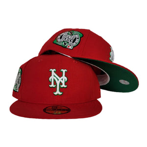 New York Mets Red Green Bottom 2000 Subway Series New Era 59Fifty Fitted