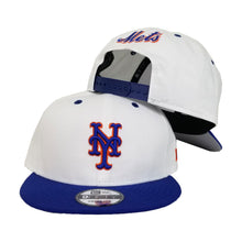 Load image into Gallery viewer, New York Mets White Light Royal Blue New Era 9Fifty Snapback