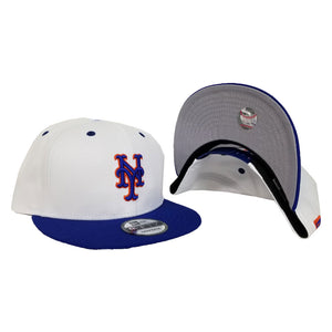New York Mets White Light Royal Blue New Era 9Fifty Snapback