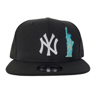 New York Yankees Black Grey Bottom Statue of Liberty New Era 9Fifty Snapback Hat