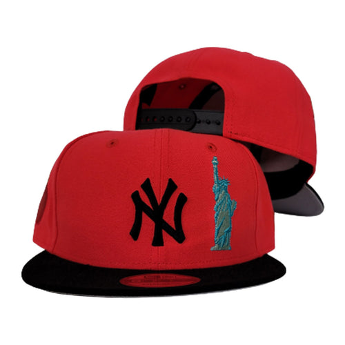 New York Yankees Infrared Grey Bottom Statue of Liberty New Era 9Fifty Snapback Hat