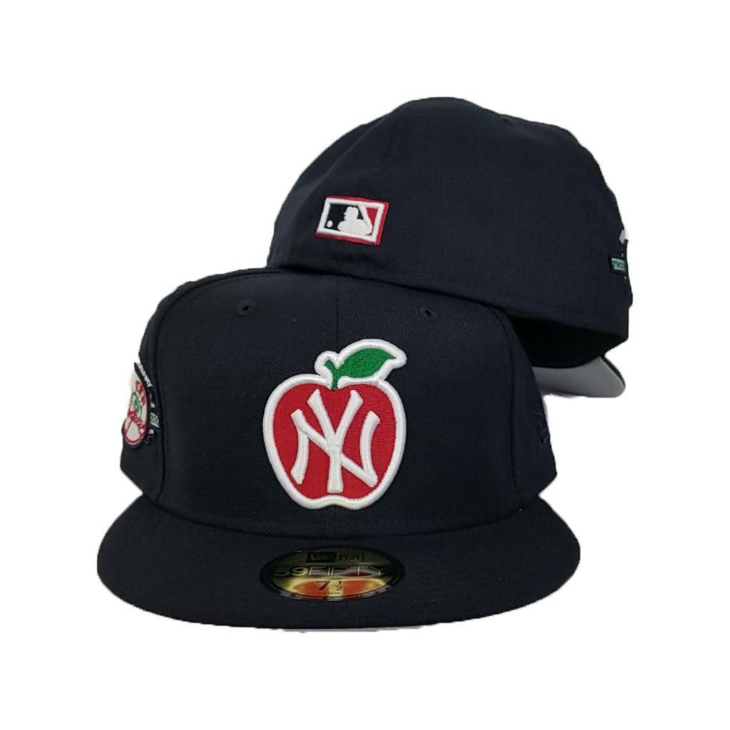 New York Yankees Navy Blue 100th Anniversary Big Apple New Era 59Fifty Fitted