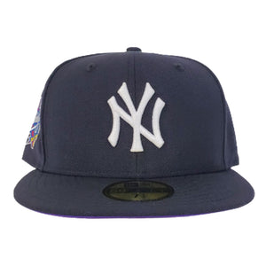 New York Yankees Navy Purple Bottom 1998 World Series New Era 59Fifty Fitted
