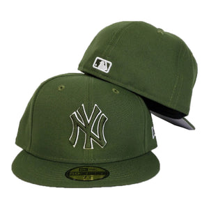 New York Yankees Olive Green New Era 59Fifty Fitted