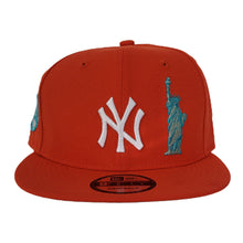 Load image into Gallery viewer, New York Yankees Orange Grey Bottom Statue of Liberty New Era 9Fifty Snapback Hat