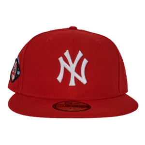 New York Yankees Red Icy Blue Bottom 100th Anniversary New Era 59Fifty Fitted