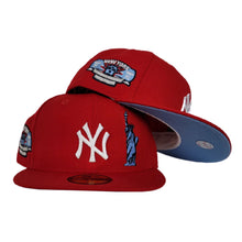 Load image into Gallery viewer, New York Yankees Red Icy Blue Bottom Subway Series Statue of Liberty New Era 59Fifty Fitted