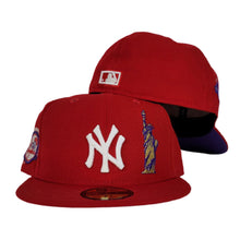 Load image into Gallery viewer, New York Yankees Red Purple Bottom Statue of Liberty New Era 59Fifty Fitted