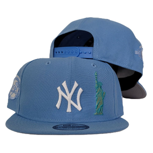 New York Yankees Sky Blue Grey Bottom Statue of Liberty New Era 9Fifty Snapback Hat