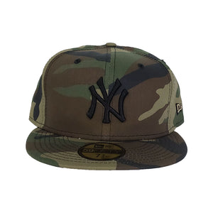 New York Yankees Woodland Camouflage New Era 59Fifty Fitted Hat