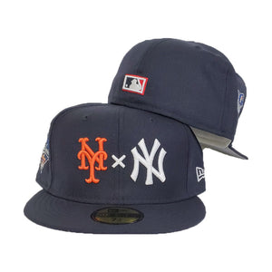 New York Yankees X New York Mets X Hat Navy 2000 World Series New Era 59Fifty Fitted Hat